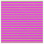 [ Thumbnail: Green and Fuchsia Stripes Pattern Fabric ]