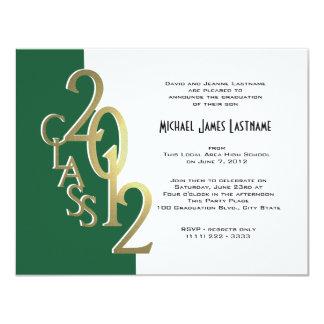 Green and Gold 2012 Graduation Invitation