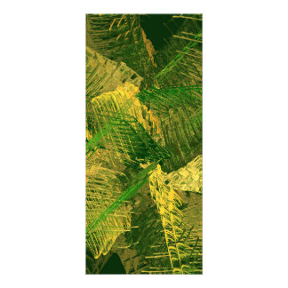Green and gold abstract rack card