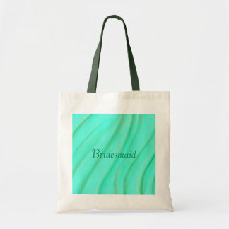 Green and gold blends, Bridesmaid tote bags