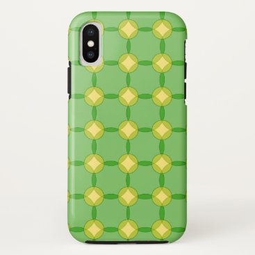 Green and Gold Circles iPhone XS Case