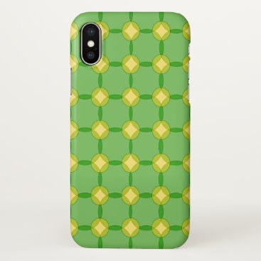 Green and Gold Circles iPhone X Case