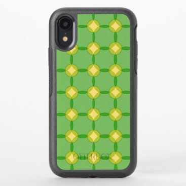 Green and Gold Circles OtterBox Symmetry iPhone XR Case