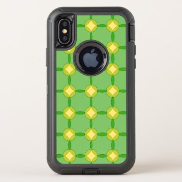Green and Gold Circles OtterBox Defender iPhone X Case