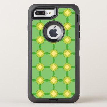 Green and Gold Circles OtterBox Defender iPhone 8 Plus/7 Plus Case