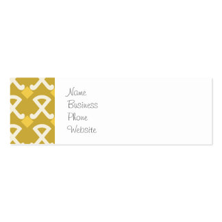Green and Gold Diamonds and Hooks Patterns Double-Sided Mini Business Cards (Pack Of 20)