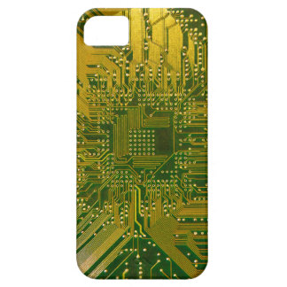 Green and Gold Electronic Computer Circuit Board iPhone 5 Cases
