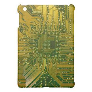 Green and Gold Electronic Computer Circuit Board iPad Mini Covers