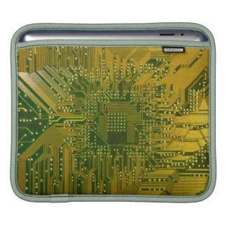 Green and Gold Electronic Computer Circuit Board iPad Sleeve