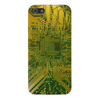 Green and Gold Electronic Computer Circuit Board iPhone 5 Cover