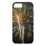Green and Gold Fireworks Holiday Celebration iPhone 8/7 Case