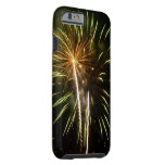 Green and Gold Fireworks Holiday Celebration Tough iPhone 6 Case