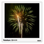 Green and Gold Fireworks Holiday Celebration Wall Sticker