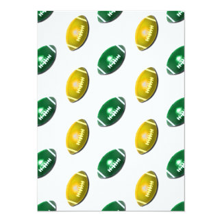 Green and Gold Football Pattern Card