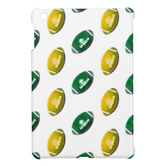 Green and Gold Football Pattern iPad Mini Cover