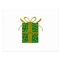 Green and Gold Gift Postcard