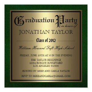 Green and Gold Graduation Card