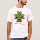 Green And Gold Irish Shamrock In Japan 日本語 T Shirt at Zazzle