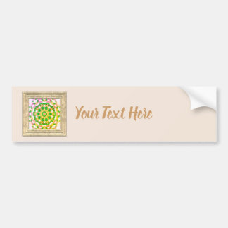 Green And Gold Jewelry Beads Bumper Sticker