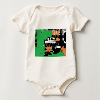 Green and Gold Kitchen Baby Bodysuit