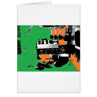 Green and Gold Kitchen Card