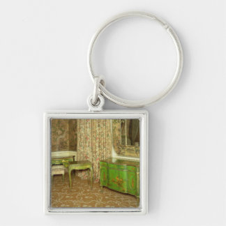 Green and gold lacquer furniture in the state keychain