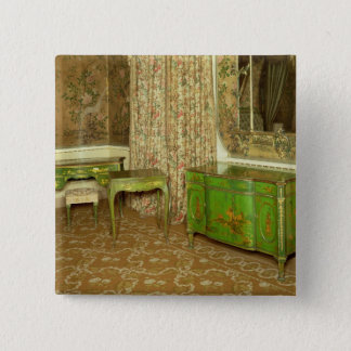 Green and gold lacquer furniture in the state pinback button