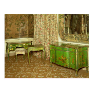 Green and gold lacquer furniture in the state post card