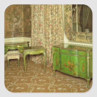 Green and gold lacquer furniture in the state square sticker