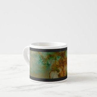 Green and Gold Marble Espresso Cup