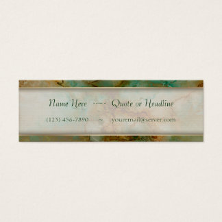 Green and Gold Marble Mini Business Card
