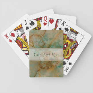 Green and Gold Marble Playing Cards