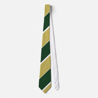Green and Gold Neck Tie