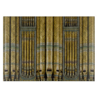Green and gold organ pipes cutting board