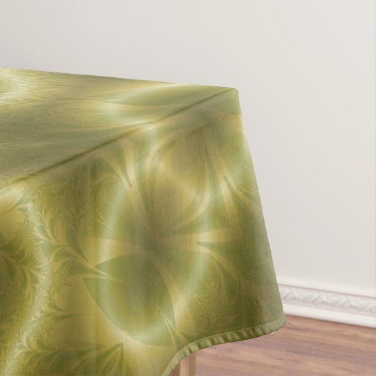 Green And Gold Paisley Tablecloth