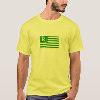 Green and Gold Planet Revels Flag T-Shirt