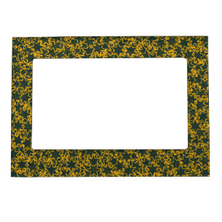 Green and Gold Star Team Spirit Sports Colors Magnetic Photo Frames