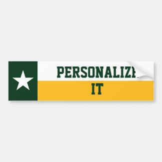 Green and Gold Texas Flag Bumper Sticker