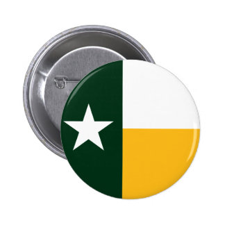 Green and Gold Texas Flag 2 Inch Round Button