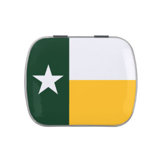 Green and Gold Texas Flag Jelly Belly Tin