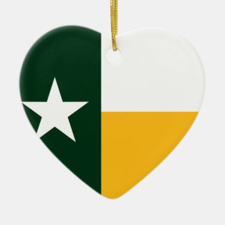 Green and Gold Texas Flag Ornaments