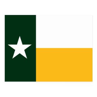 Green and Gold Texas Flag Postcard
