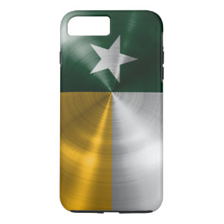 Green and Gold Texas Flag Radial Brushed iPhone 7 Plus Case