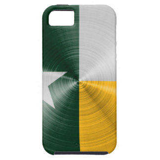 Green and Gold Texas Flag Radial Brushed iPhone SE/5/5s Case