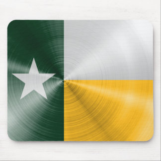 Green and Gold Texas Flag Radial Brushed Mouse Pad