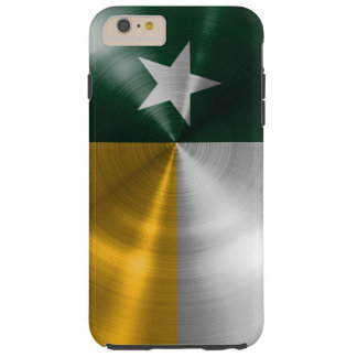 Green and Gold Texas Flag Radial Brushed Tough iPhone 6 Plus Case