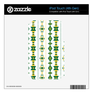 Green and Gold Transparency iPod Touch 4G Skin