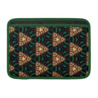 """Green and Gold Triangle Pattern 11"""" MacBook Air Sleeves"""