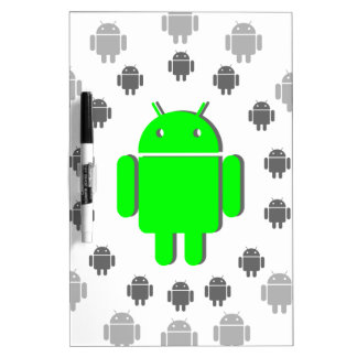 Green and gray Android, androids,