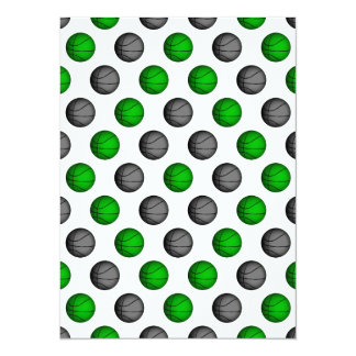 Green and Gray Basketball Pattern Card